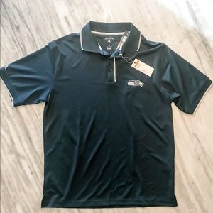 {Antigua NFL Apparel} Blue Seahawks Golf Polo